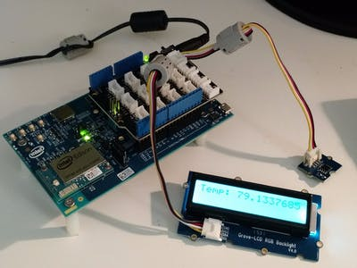 Thermometer with Intel Edison and SeeedStudio Grove