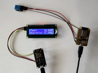 Remote Wi-FI DHT11 Temperature  & Humidity LCD Display