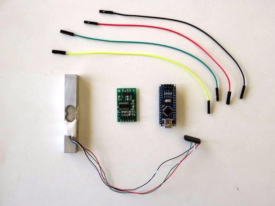 Arduino and visuino measure weight with hx load