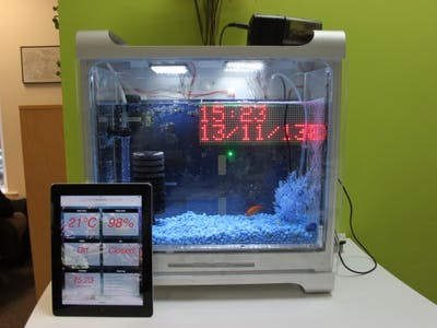 Internet-enabled Fishtank
