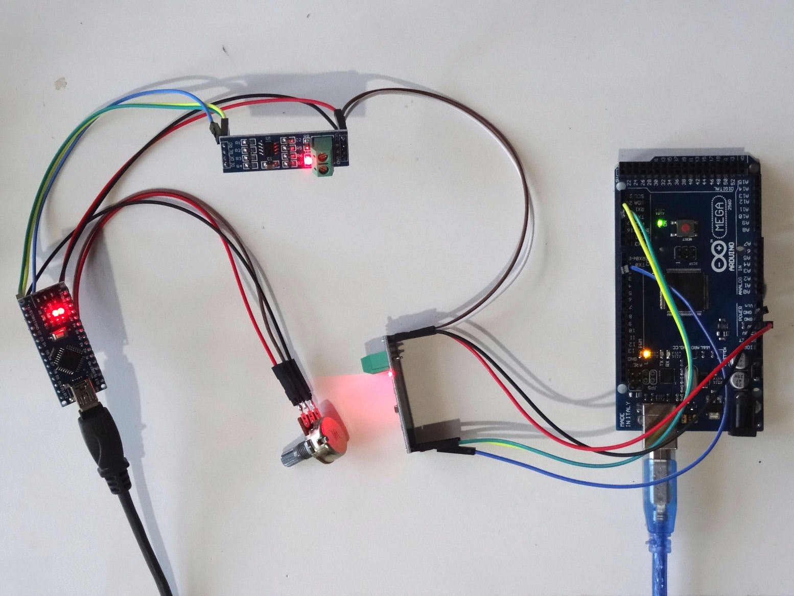 RS485 Serial Communication between Arduinos with Visuino