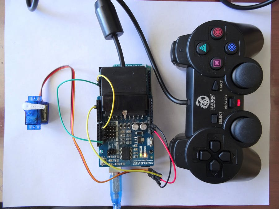Arduino and Visuino: Controlling Servo with PS2 controller