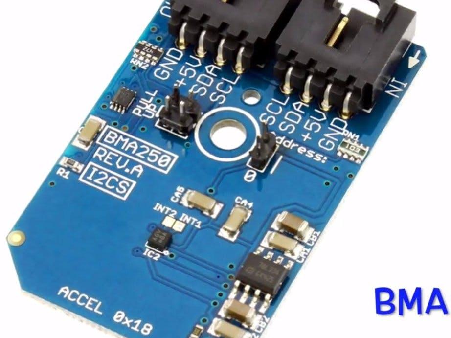 Acceleration Measurement Using BMA250 and Arduino Nano