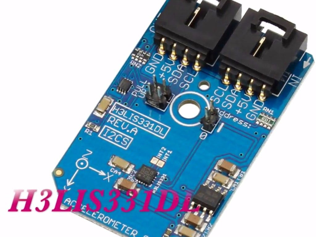 Measurement of Acceleration Using H3LIS331DL and Arduino