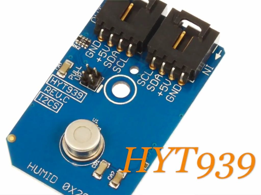 Humidity Measurement Using HYT939 and Arduino Nano