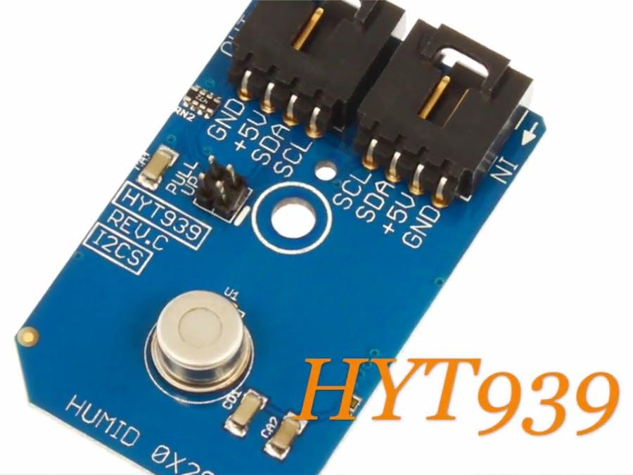 Humidity Measurement Using HYT939 and Arduino Nano