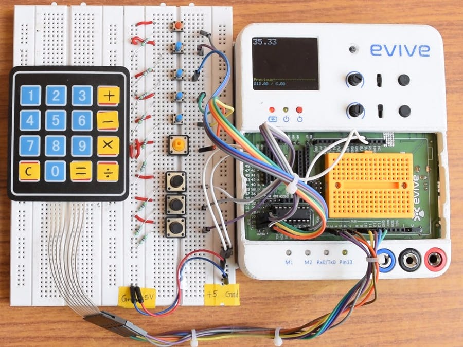 Scientific Calculator on Evive (powered by Arduino MEGA