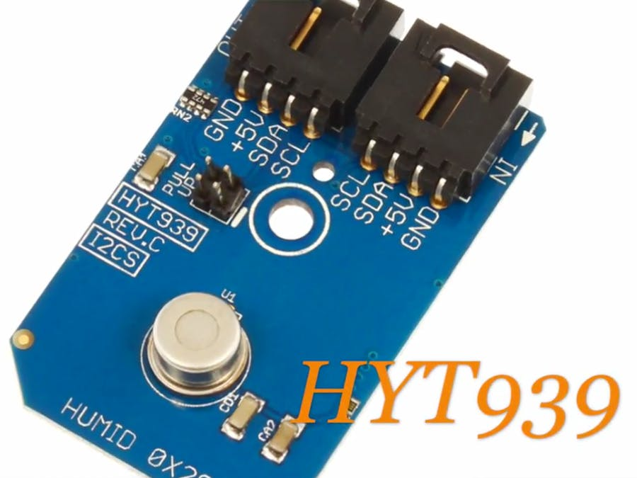 Humidity Measurement Using HYT939 and Particle Photon