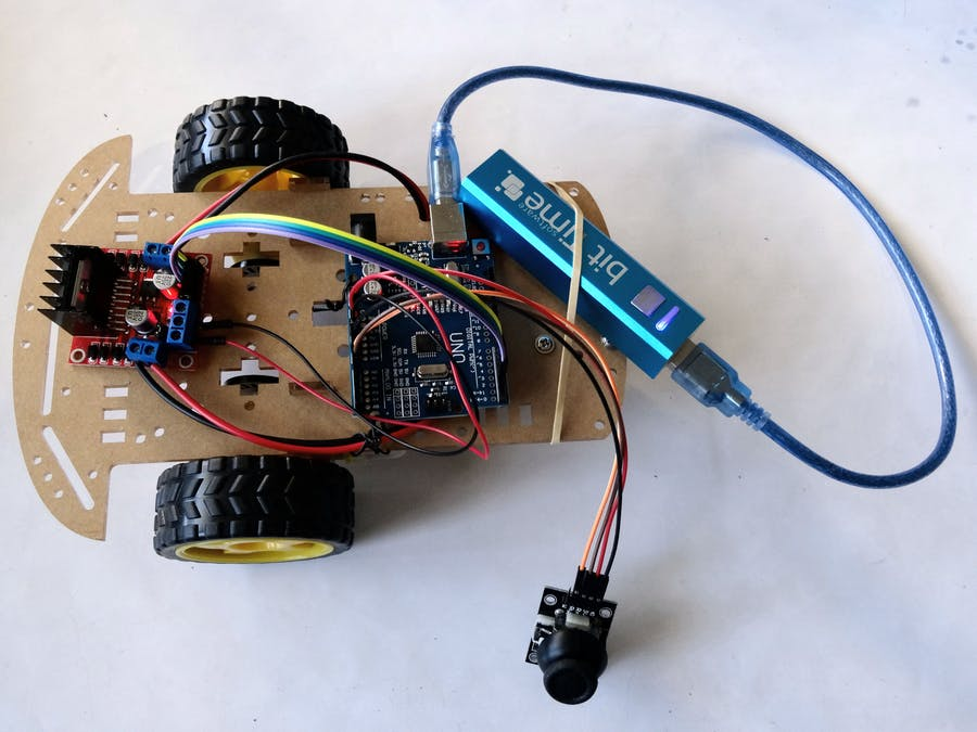 Arduino and Visuino: Control Smart Car Robot with Joystick - Arduino