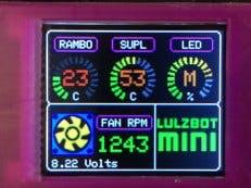 LulzBot Mini: Arduino Temp Monitor/Fan Controller