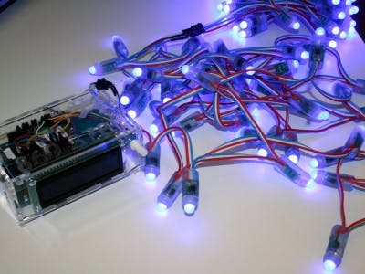 Using SMS messages to control LED color