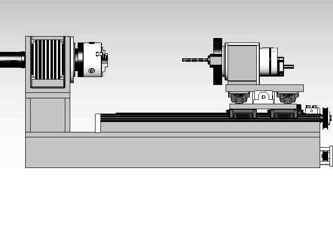 CNC lathe with CAD software