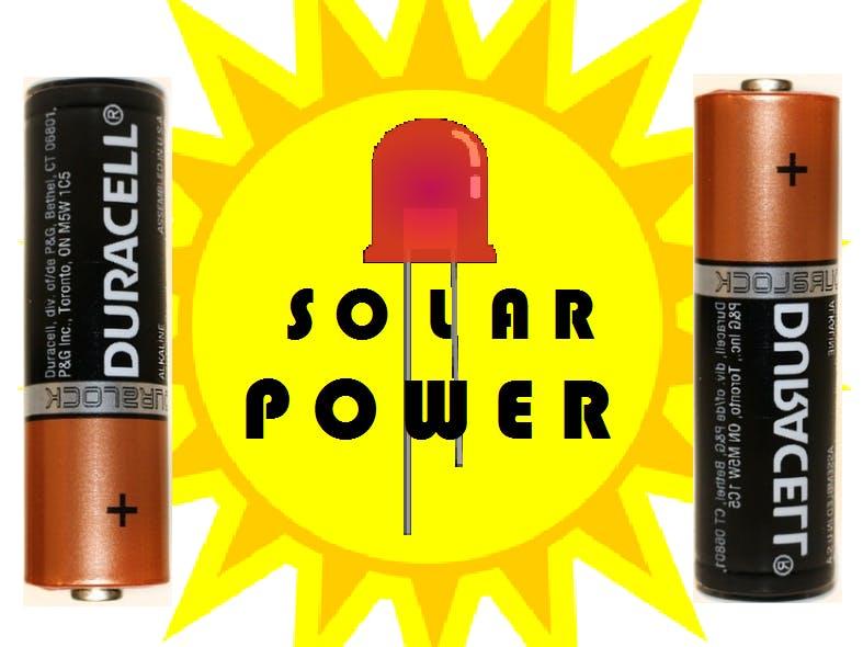 Solar Power: Rechargeable Batteries!