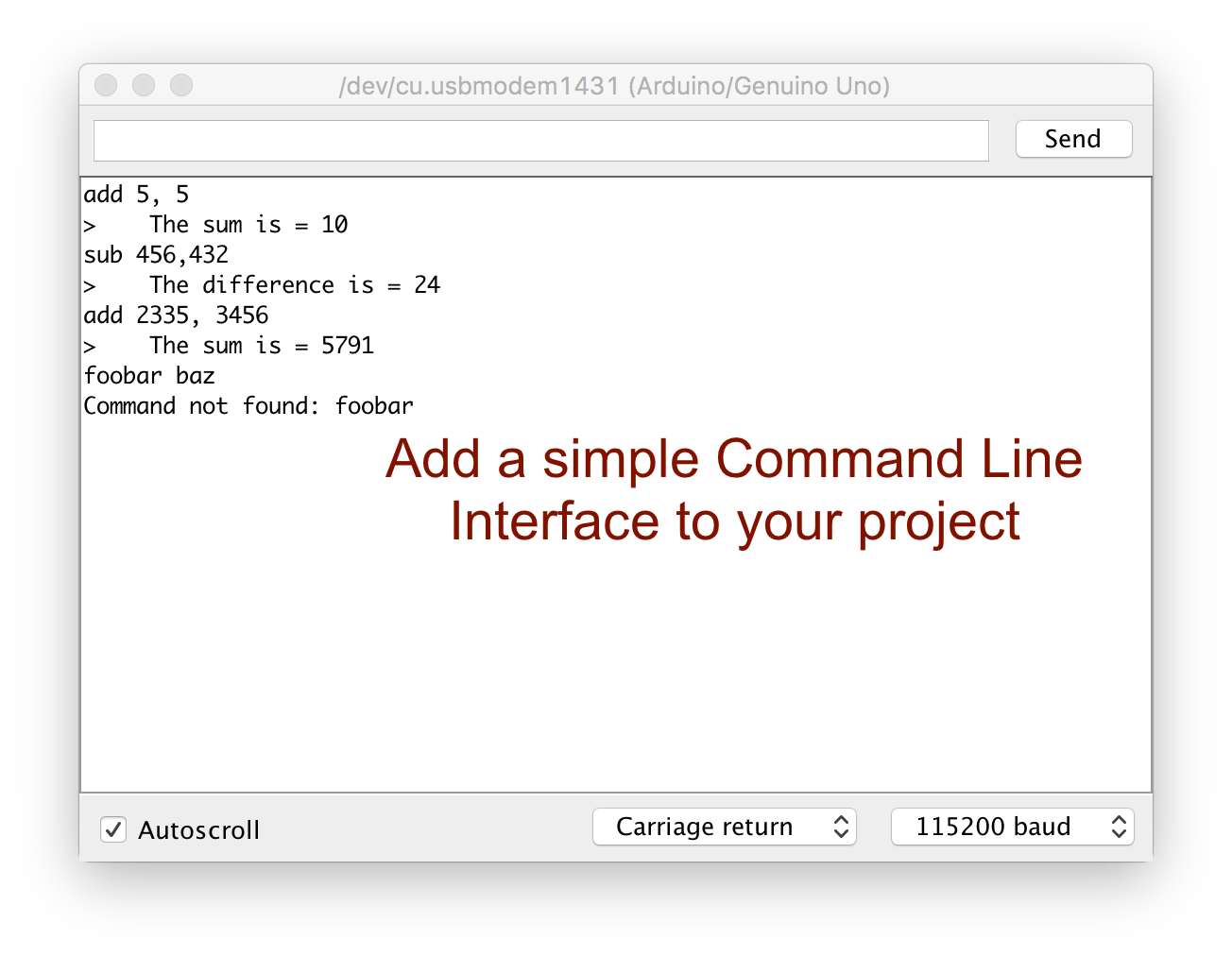 Simple Command Line Interface