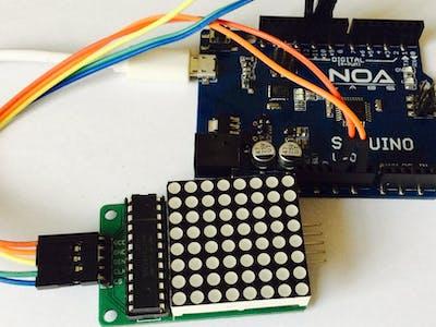 How To - Control 8X8 LED Dot Matrix with SMDuino (Arduino...