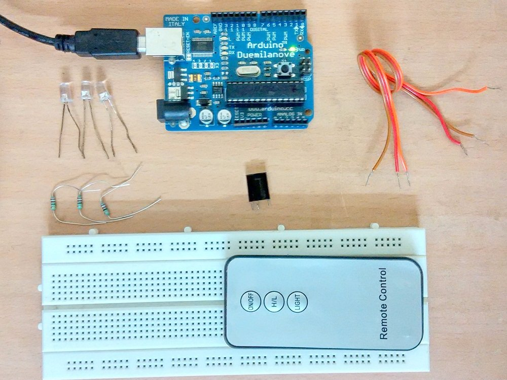 Control a LED With The Remote Control - Arduino