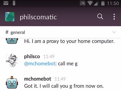 McHomeBot - Slack bot posting Webcam snapshots