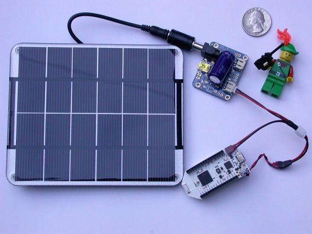 Solar Powered Pinoccio Scout