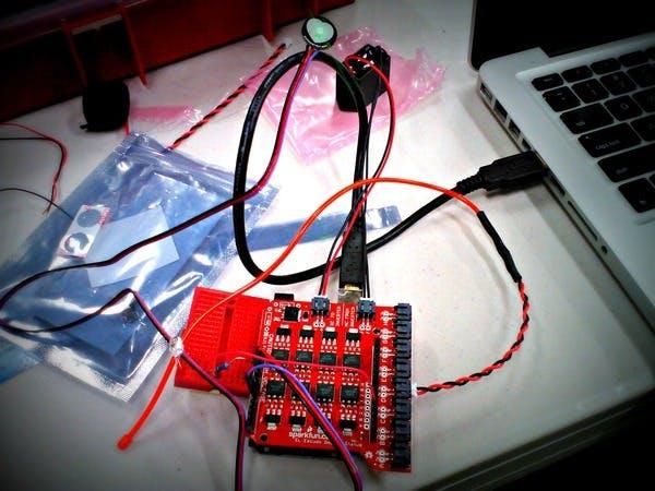 EL Wire Heartbeat