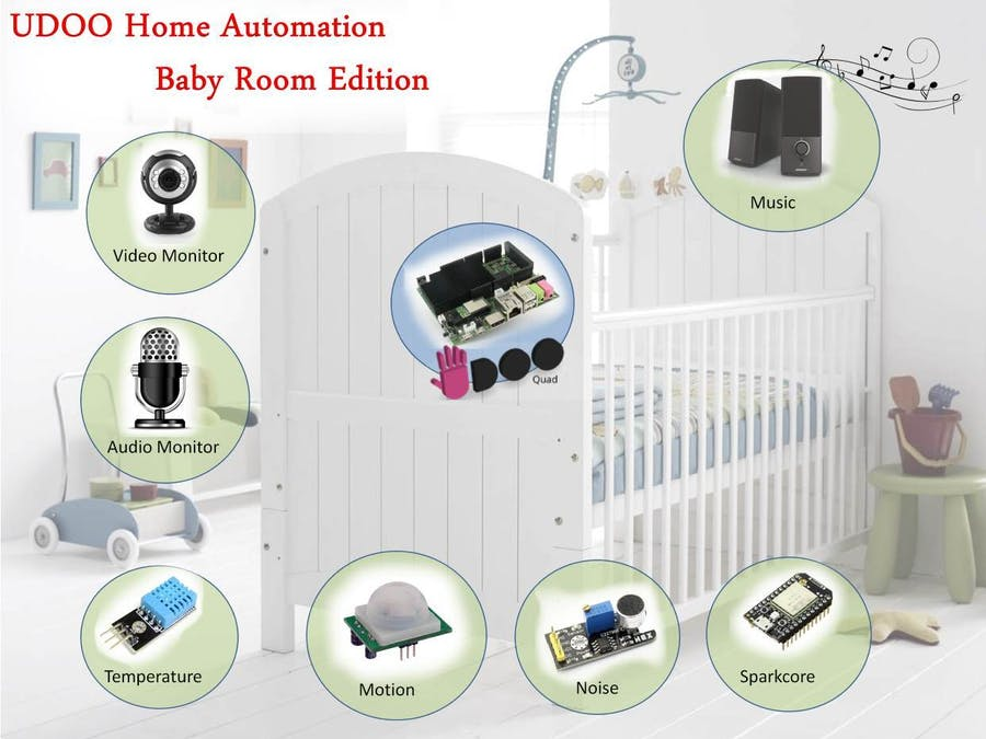 Baby Room Automation Hacksterio Gorgeous Baby Room Monitors