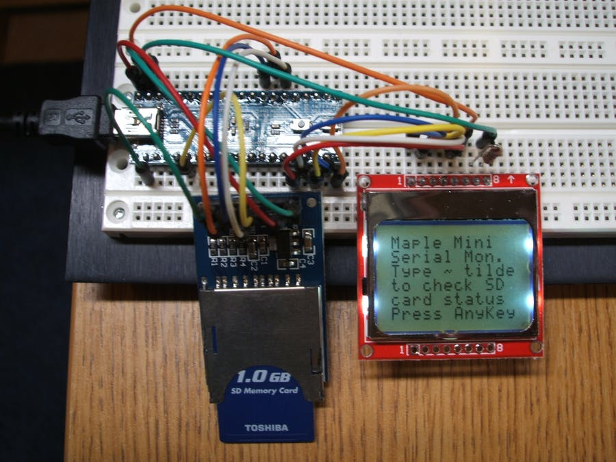 Stm32f103 sd card example