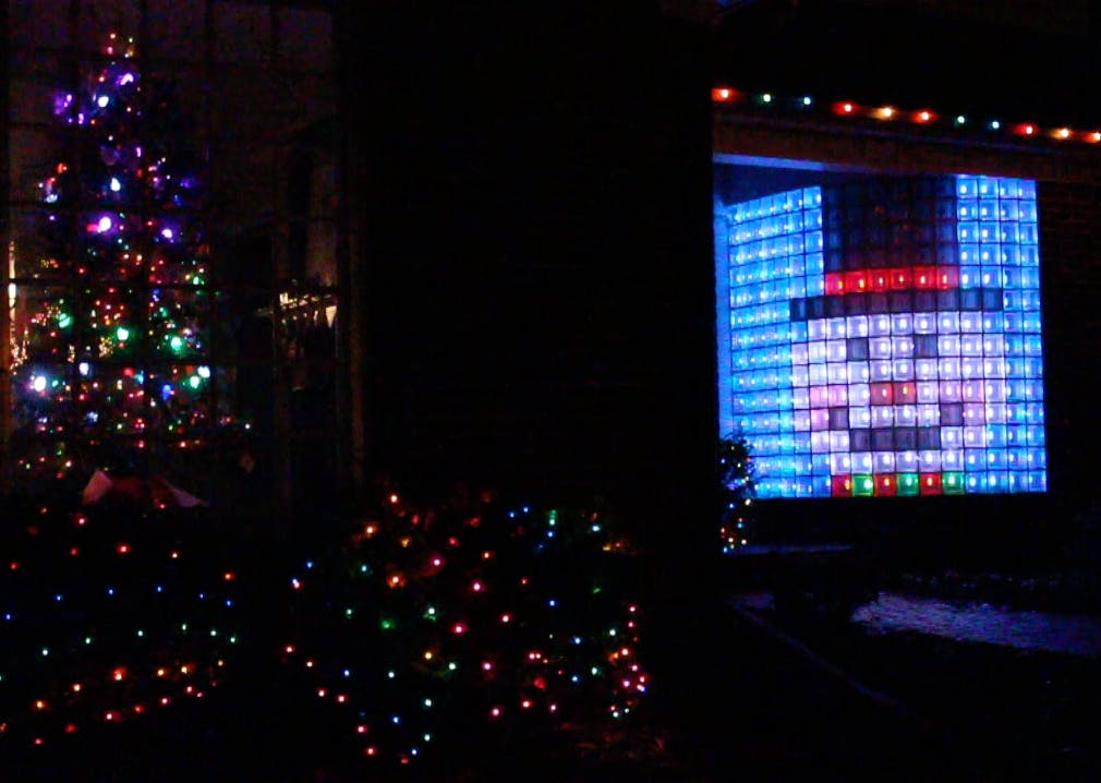 Christmas Lights! Neopixel Led Matrix Glass Block Wall