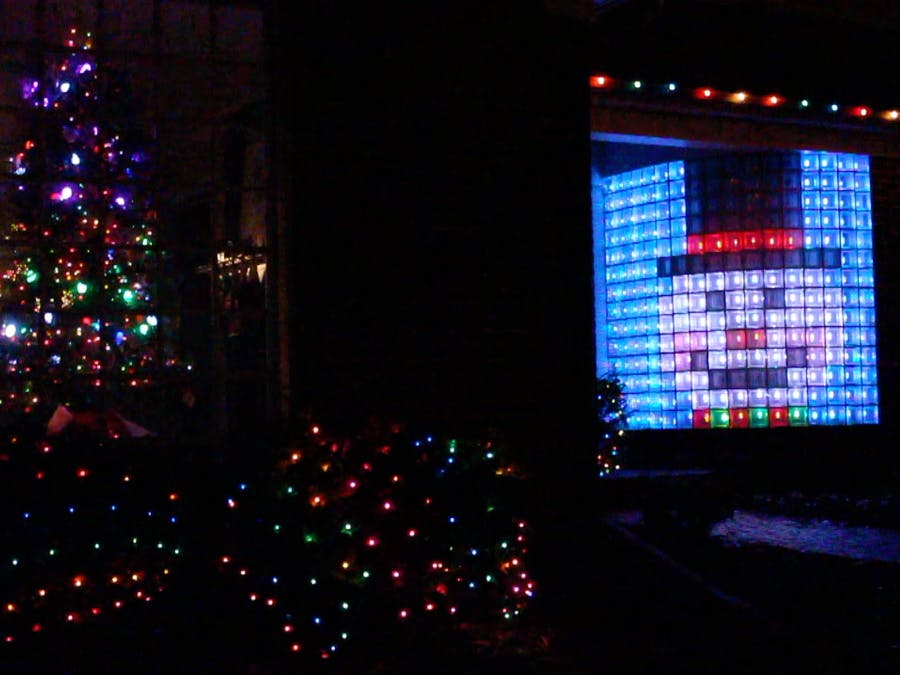Led Christmas Wall Lights : Christmas Lights! Neopixel Led Matrix Glass Block Wall - Hackster.io