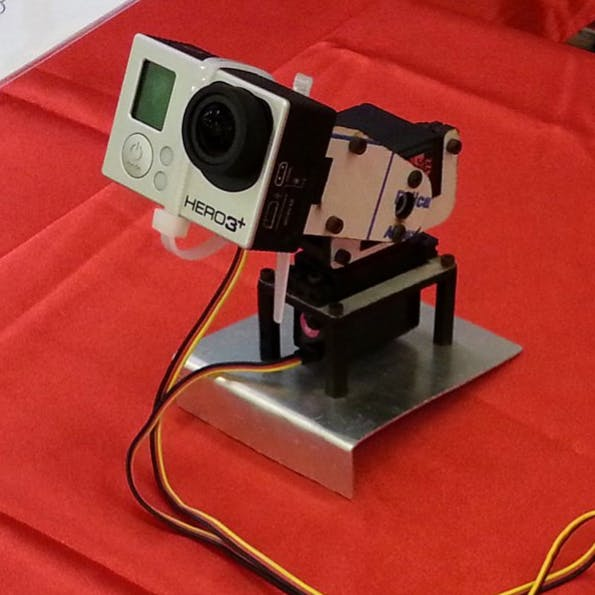 GoPro installed on a robotic arm managed with Linino