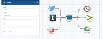 Using Arduino with Meshblu Virtual Serial Port