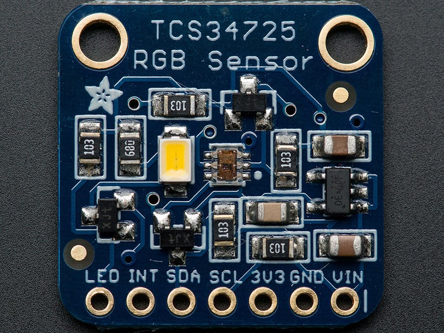 Color Sensing on Tessel with rgb-tcs34725
