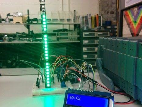 Indoor NeoPixel Thermometer
