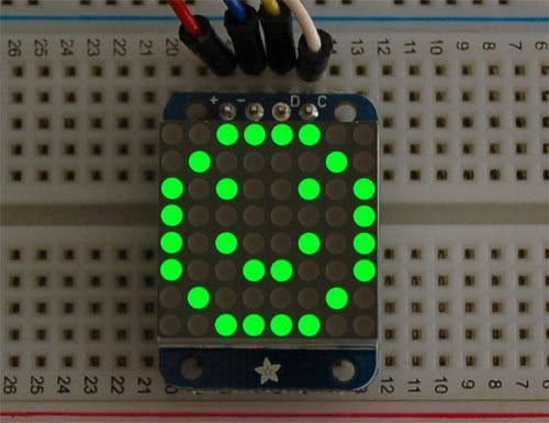 Tessel LED backpack-ht16k33 API
