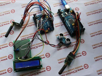 Ultrasonic Distance Measurement NRF905 Wireless Transmission