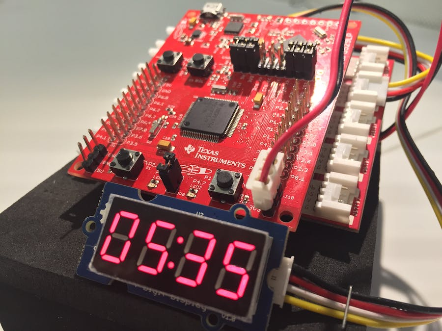 MSP430 Alarm Clock with Grove Modules - Hackster io