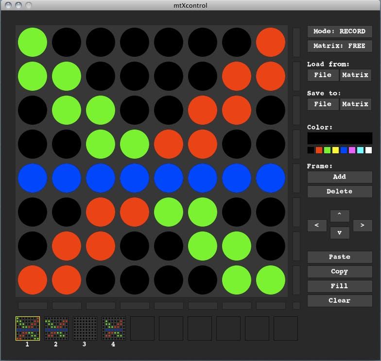 mtXcontrol - a LED Matrix Editor