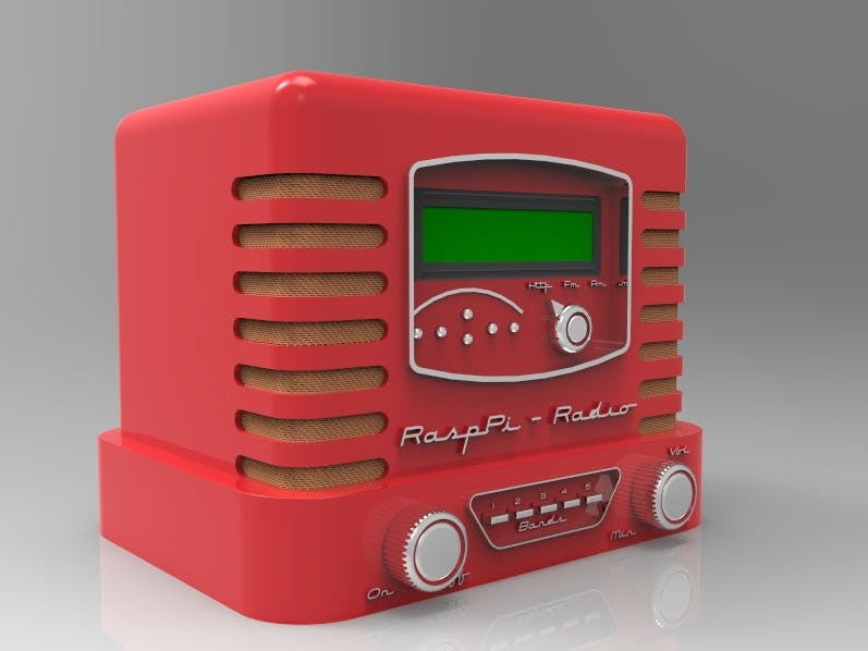 Think out of the box....With this RaspPi - Vintage Radio