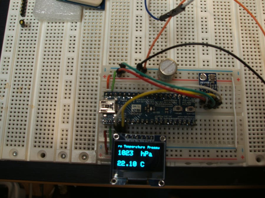 OLED Temperature-Barometer for $10 - Hackster io