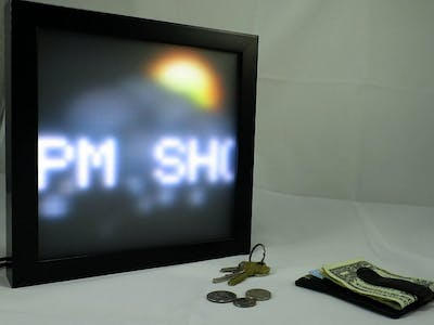 Connected LED Information Display