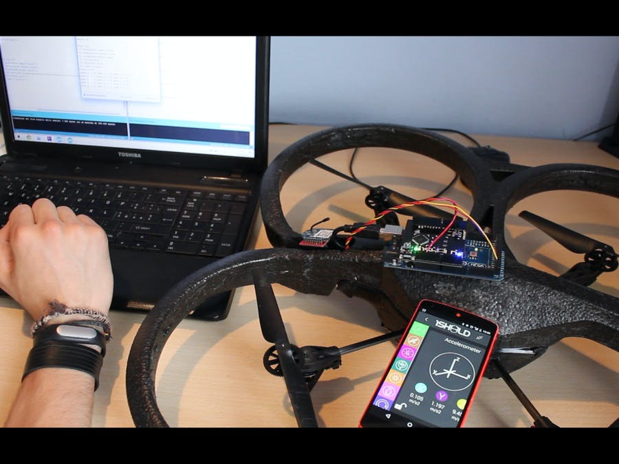 AR DRONE and 1SHEELD - Discover the world around your drone