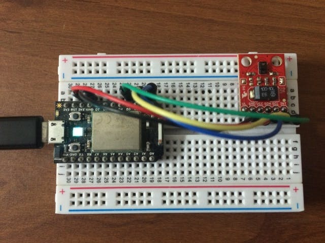 Gesture detection using Particle and SparkFun Gesture Sensor