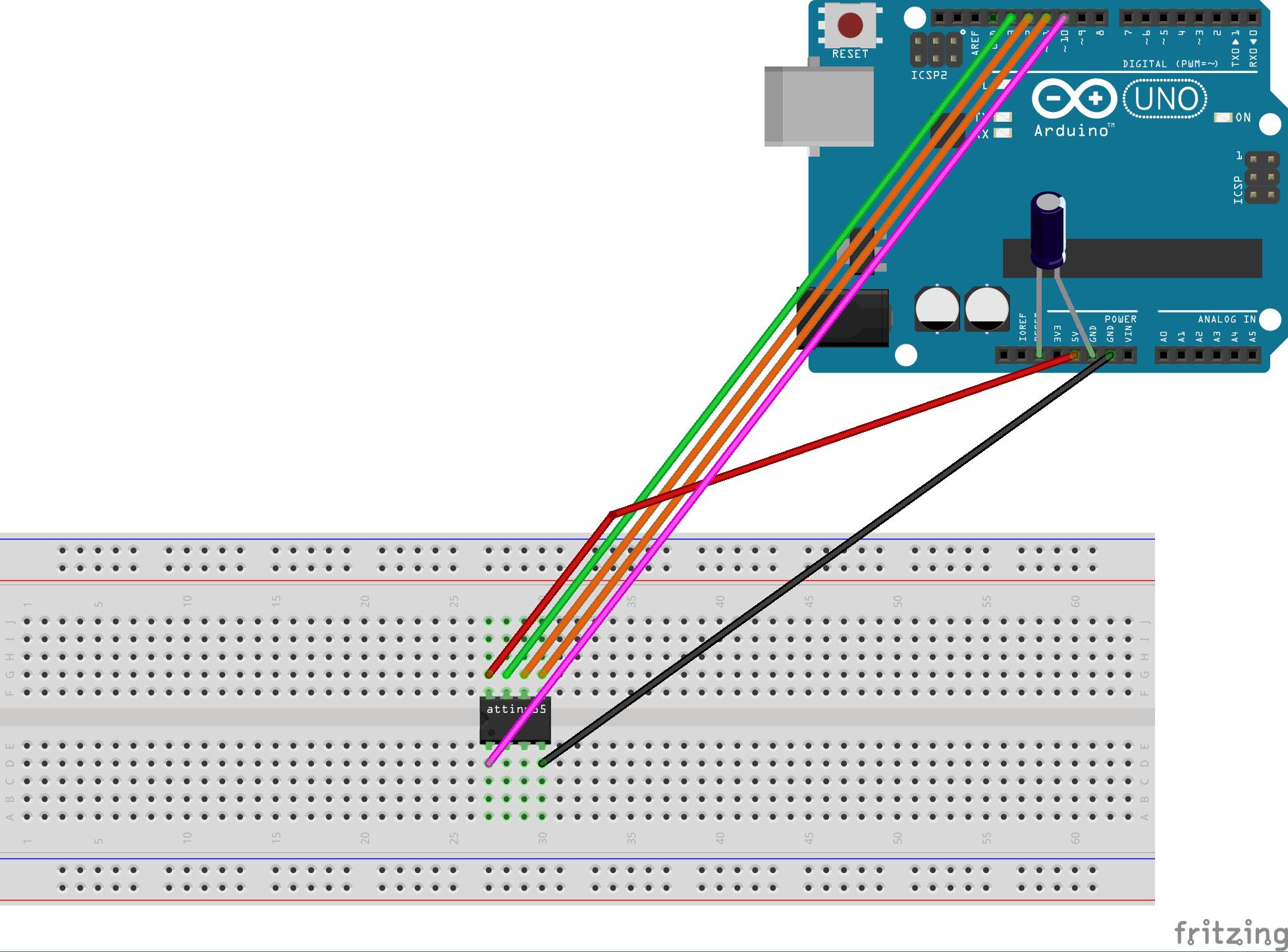 Programming ATtiny85 with Arduino Uno