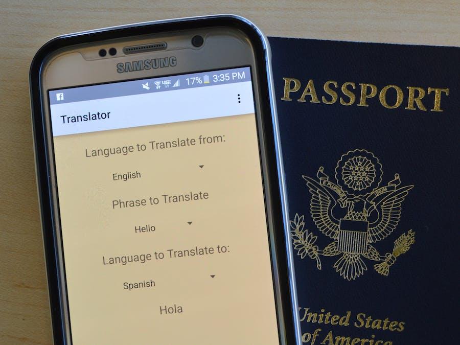 Android Simple Phrase Translator App