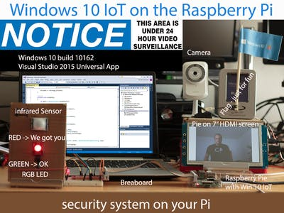 Windows 10 IoT - Don't move or we grab a pic from you!