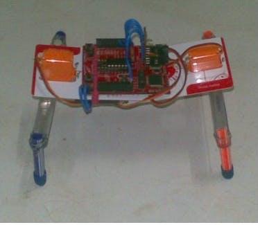 Two servo walking robot using TI launchpad