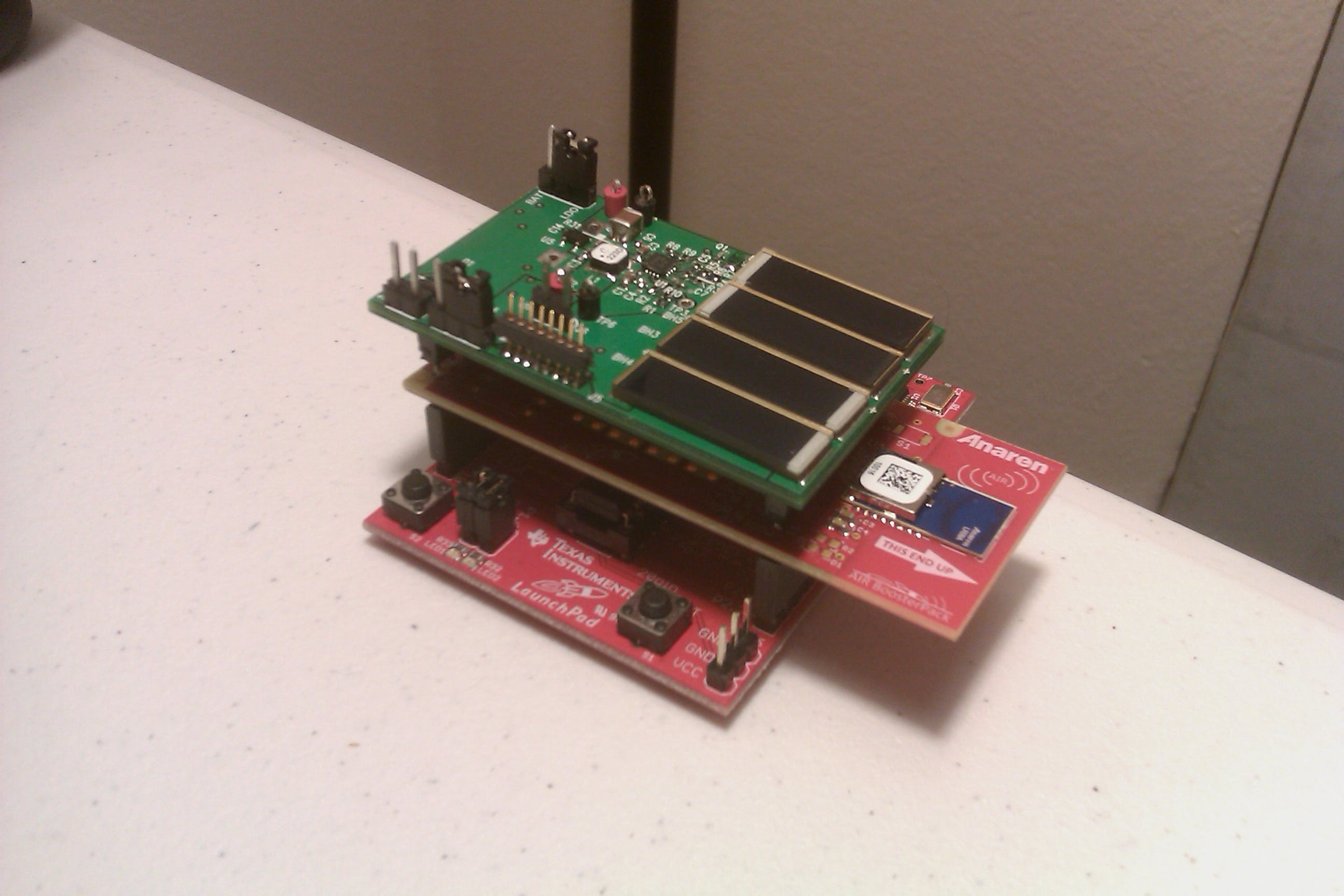 Wireless Sensor Network + bq25504 Energy Harvesting BoosterPack for LaunchPad