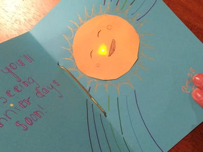 Create a Light-Up Greeting Card with LED Stickers