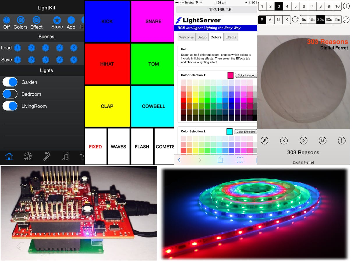 LightServer: App Controlled RGB Lighting: Effects + Music