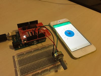 Using iShield Gauge with potentiometer