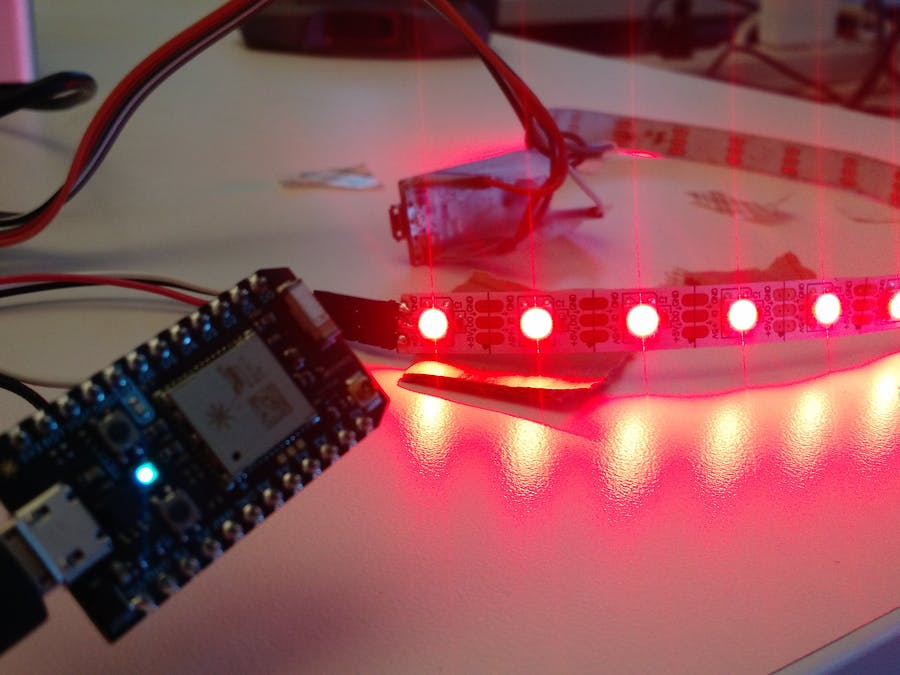 Web-enabled NeoPixels Using Particle + Octoblu