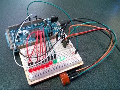 An alcohol tester with LED lights made with Zerynth